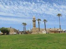 一个古老清真寺在Cesarea在以色列 图库摄影