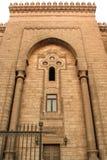 一个古老清真寺的墙壁在老开罗,埃及 免版税库存照片