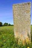 一个古老石碑在Visingso,一个海岛在瑞典 库存图片