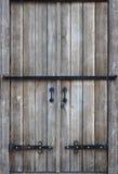 一个古色古香的木门的纹理从第16个和第17个cen的 免版税图库摄影