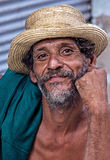 一个古巴人的画象 图库摄影