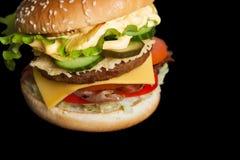 一个可口汉堡用烟肉 免版税库存图片