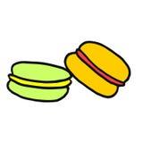 一个可口点心-五颜六色的蛋白杏仁饼干 时兴和appeti 库存例证