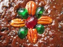 一个可口看的圣诞节果子蛋糕 免版税库存图片
