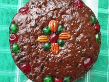 一个可口看的圣诞节果子蛋糕 图库摄影