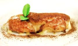 一个可口香草小饼的宏指令的照片 免版税库存图片