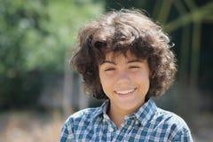 一个可爱的十几岁的男孩 免版税库存图片