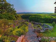 一个可爱的康尼马拉沼泽视图 免版税库存照片