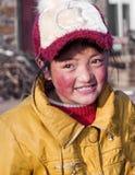 一个可爱的纯净的西藏女孩 免版税库存图片
