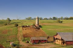 一个可爱的美国田园诗牧人场面  库存图片