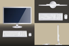 一个台式计算机的不同的看法 免版税库存照片