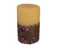 一个咖啡蜡烛 图库摄影