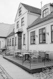 一个咖啡馆在克莱佩达 免版税图库摄影