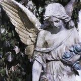 一个哀伤的天使的葡萄酒图象 免版税库存图片