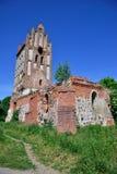 一个哥特式教会的废墟 免版税库存图片
