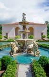 一个喷泉在哈密尔顿植物园里,意大利庭院 库存照片
