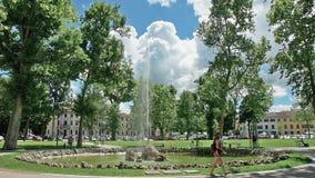 一个喷泉在庭院第1也许在乌迪内摆正 股票录像