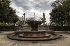 一个喷泉在芝加哥 图库摄影