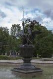 一个喷泉在Wilanow宫殿 库存图片