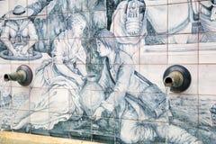 一个喷泉的细节在Almogia的 免版税库存图片