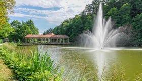 一个喷泉 库存图片