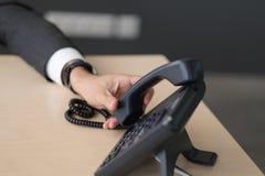 一个固定的电话 免版税库存图片
