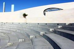一个圆形剧场的详细资料在里斯本,葡萄牙 图库摄影