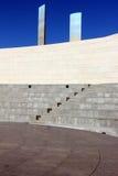 一个圆形剧场的详细资料在里斯本,葡萄牙 免版税图库摄影