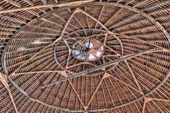 一个圆的谷仓的屋顶 免版税库存图片