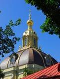 一个圆顶的细节在圣彼德堡,俄罗斯 库存图片