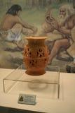 一个土制立场从新石器时代的时代 免版税图库摄影