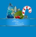 一个圣诞快乐背景 库存图片