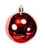 一个圣诞节冷杉木玩具球 免版税库存照片
