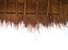 一个地方秸杆屋顶 免版税图库摄影
