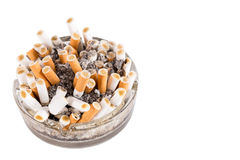 一个坏的烟灰缸 免版税库存照片
