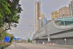 一个坚尼地城游泳池在香港 图库摄影