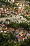 一个坟园在萨拉热窝,波斯尼亚 免版税图库摄影