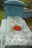 一个坟墓在犹太公墓, walaka,埃塞俄比亚 库存图片