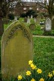 一个坟茔在一座公墓在诺威治 免版税库存图片
