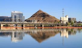 一个城市在亚利桑那的沙漠: 坦佩 免版税库存图片