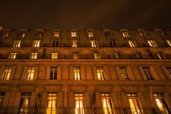 一个城市大厦的晚上摄影在巴黎 库存照片