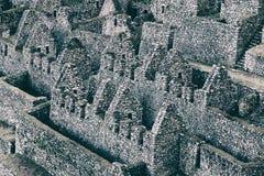 一个城市的石古老废墟印加人的落后,秘鲁 图库摄影