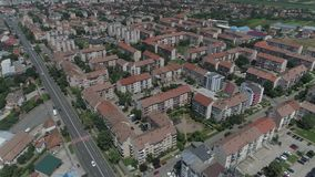 一个城市的空中录影在罗马尼亚萨图马雷 影视素材