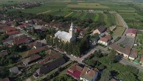 一个城市的空中录影在罗马尼亚萨图马雷 股票录像