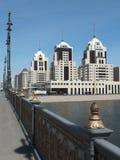 一个城市视图在阿斯塔纳 免版税库存照片