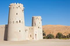一个堡垒在阿拉伯联合酋长国的Liwa新月形地区 免版税库存图片