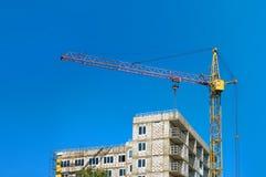 一个大厦的图片建设中在城市 免版税库存照片