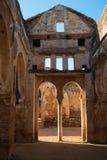 一个大厦的废墟在Chellah,拉巴特,摩洛哥 免版税库存图片