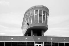 一个大厦的观察台与玻璃窗 库存图片