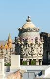 一个大厦的详细资料在巴塞罗那 库存照片